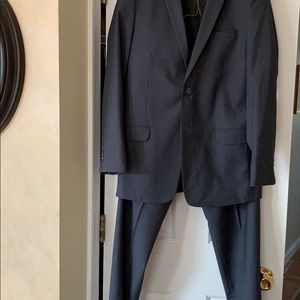 Boys charcoal gray 2 piece suit